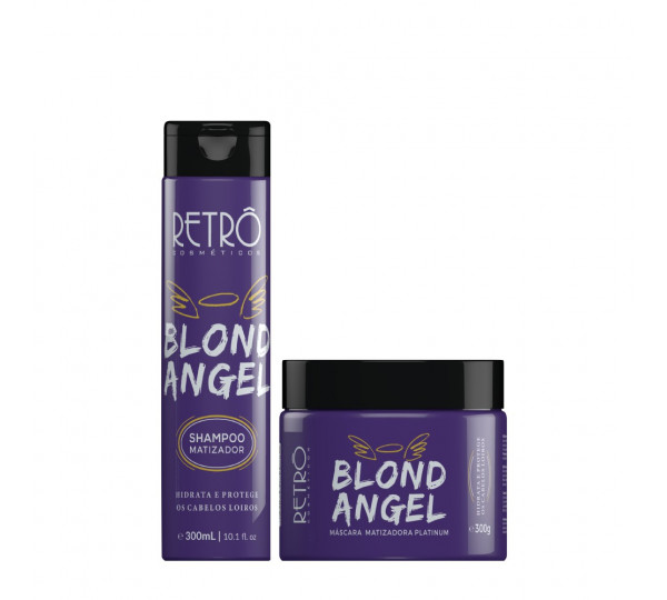 Retrô Cosméticos Blond Angel Kit Shampoo e Máscara Matizadora 2x300ml