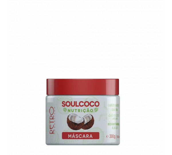 Máscara Nutritiva Soul Coco Retrô Cosméticos 300g