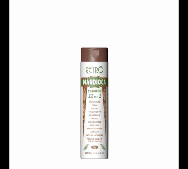 Shampoo Mandioca 12 Em 1 Retrô Cosméticos 300ml